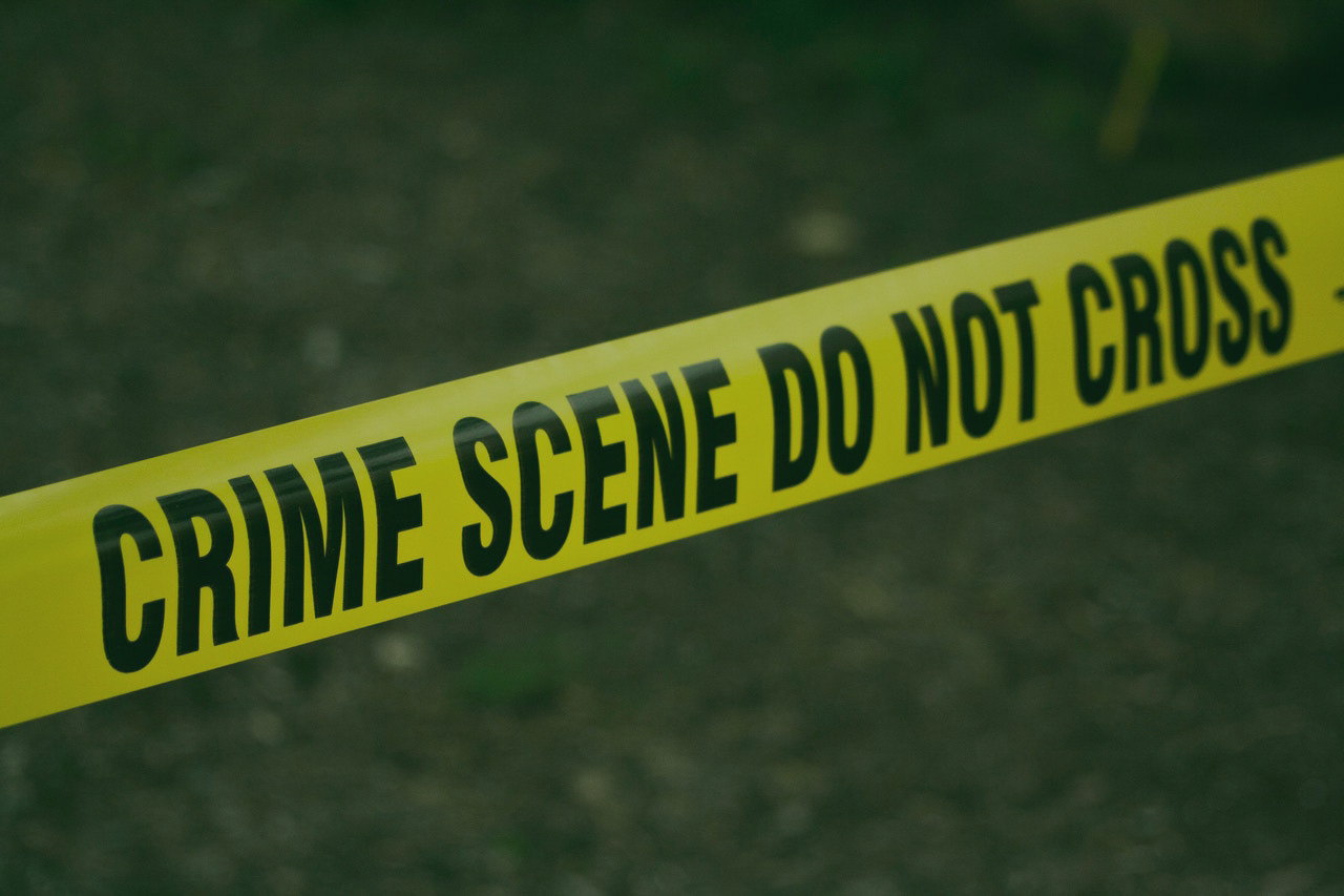 yellow crime scene tape